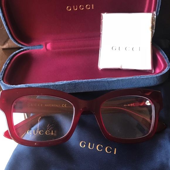 f7d86cf577 Authentic GUCCI 48m Cat square Acetate opt.glasses
